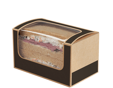 Square-cut Sandwich Pack Container