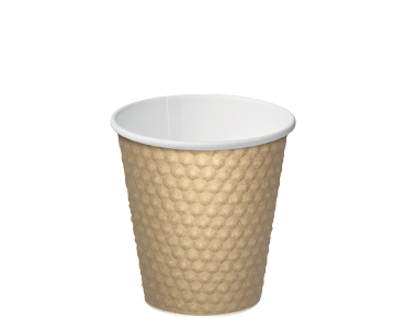 Brown 8oz Dimple® Paper Coffee Cups