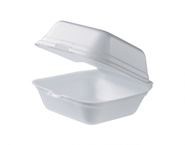 Foam Burger Box (Small) | Clamshell Packaging Containers