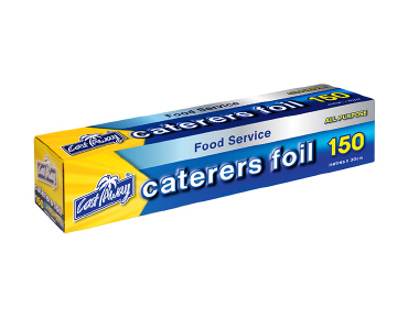 All Purpose Aluminium Caterers Food Foil, 30cm x 150m