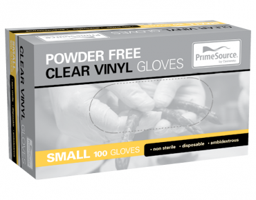 Vinyl Powder-Free Disposable Gloves (Clear Small)