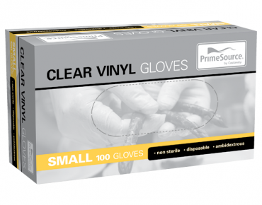 Vinyl Powdered Disposable Gloves (Clear Small)