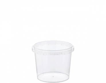 Locksafe® Small Round Tamper Evident Plastic Containers (265ml)