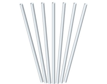 Regular Drinking Straws, White