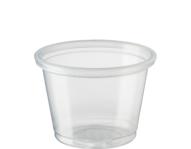 Portion Control Cups Small 30ml Clear Plastic