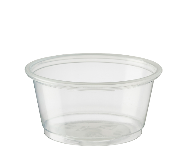 Portion Control Cups Medium 60ml Clear Plastic