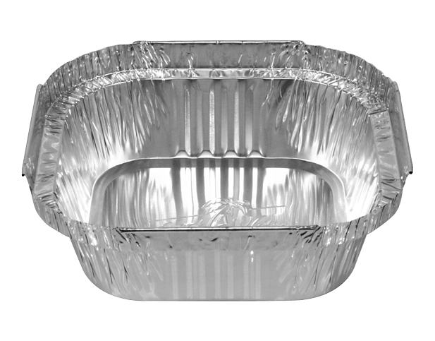 Square Dessert Foil Tray Container Deep 340ml Castaway