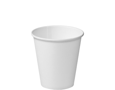 Single Wall Paper Takeaway Coffee Cups (White 8oz)