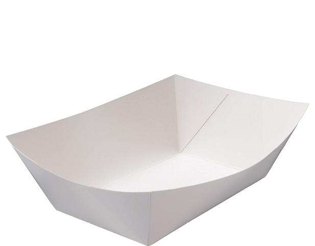 Rediserve 174 White Paper Food Trays 5 Extra Large