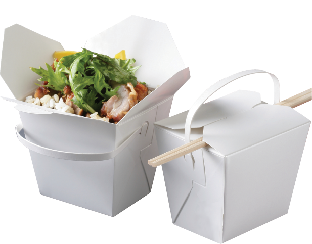 Food Pails With Handles White 32oz Takeaway Food Box