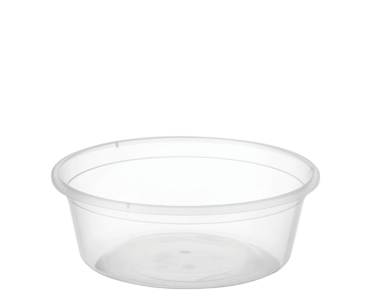 MicroReady® Round Takeaway Plastic Containers (Clear, 8oz)