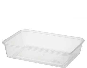 MicroReady® Rectangle Takeaway Plastic Containers (500 ml)