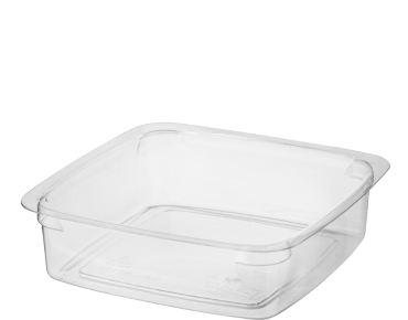 Reveal® Clear Square | Portion Control Plastic Containers (Small)