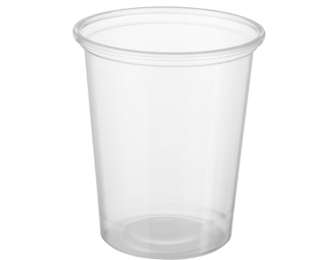 Reveal® Clear Round | Portion Control Plastic Containers (Large)
