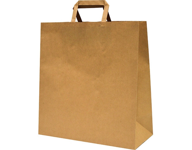 Foodservice Takeaway Bags With Flat Paper Handles Large
